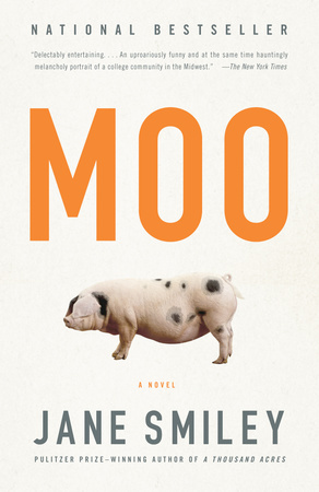 MOO by Jane Smiley is a Comedic Fiction Landmark Title on Book Country.